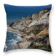 Cliffs Of Gay Head At Aquinnah Throw Pillow