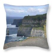 Cliffs Of Moher 4 Throw Pillow