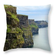 Cliffs Of Moher 7266 Throw Pillow
