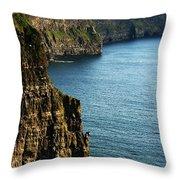 Cliffs Of Moher Clare Ireland Throw Pillow