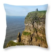 Cliffs Of Moher In Ireland Throw Pillow
