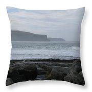 Cliffs Of Moher Ireland Throw Pillow