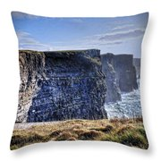 Cliffs Of Moher - Late Afternoon Throw Pillow