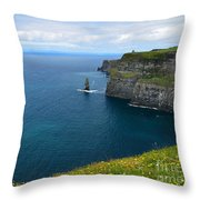 Cliffs Of Moher Looking North Throw Pillow
