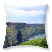 Cliffs Of Moher Panorama 3 Throw Pillow