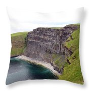 Cliffs Of Moher Panorama 1 Throw Pillow