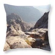 Cliffs Of Mount Sinai Throw Pillow