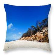 Cliffs On A Sunny Beach Throw Pillow