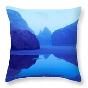 Cliffs On The Coast At Dawn, Meyers Throw Pillow