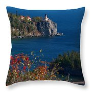 Cliffside Scenic Vista Throw Pillow