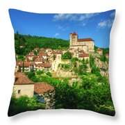 Cliffside Village Throw Pillow