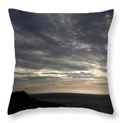 Clifftop Silhouettes Throw Pillow
