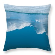 Climate Change Blue Arctic Water Reflected Clouds Throw Pillow