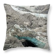 Climate Change Melting Glacier Ice And Sheer Rock Throw Pillow