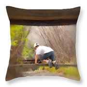 Climb On Over Throw Pillow