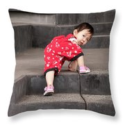 Climber 01 Throw Pillow