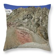 Climbers Ascending Aconcagua, Argentina Throw Pillow