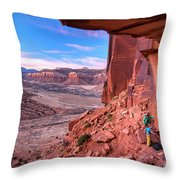 Climbers Getting Ready For Rock Throw Pillow