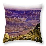 Climbing In Grand Canyon Throw Pillow