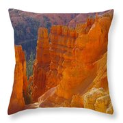 climbing out of the Canyon Throw Pillow