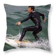 Climbing The Wave Throw Pillow