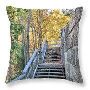 Climing Into Autumn Throw Pillow