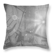 Clinging To The Cross Lights Throw Pillow