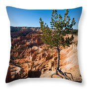 Clinging To The Edge Bryce Canyon Throw Pillow