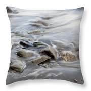 Clinging To The Shore Throw Pillow