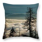 Clingman's Dome Sea Of Clouds - Smoky Mountains Throw Pillow