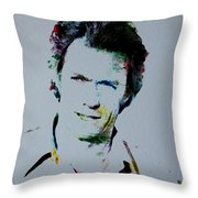 Clint Eastwood 2 Throw Pillow