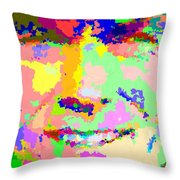 Clint Eastwood Abstract 01 Throw Pillow