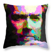 Clint Eastwood - Abstract Throw Pillow