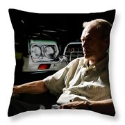 Clint Eastwood As Walt Kowalski In The Film Grand Torino - Clint Eastwood - 2008 Throw Pillow