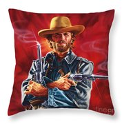 Clint Eastwood Throw Pillow