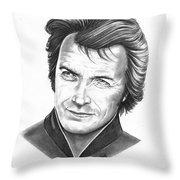 Clint Eastwood  Throw Pillow
