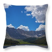 Clinton Gulch Summer Throw Pillow