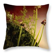 Clipped Stems Throw Pillow