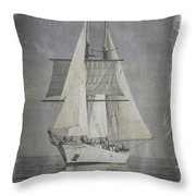 Clipper Under Sail Throw Pillow