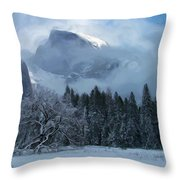 Cloaked In A Snow Storm Throw Pillow by Heidi Smith