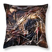 Cloaked In The Wind Throw Pillow