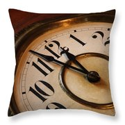 Clock Face Throw Pillow by Johan Swanepoel