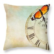 Clock Five To Twelve Throw Pillow