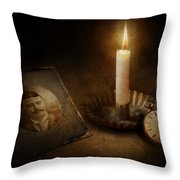 Clock - Memories Eternal Throw Pillow by Mike Savad