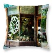 Clock Shop Throw Pillow
