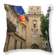Clock Tower Aix En Provence Throw Pillow