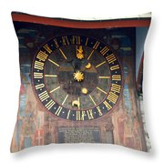 Clock Tower In Solothurn Throw Pillow