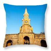 Clock Tower Gate Throw Pillow