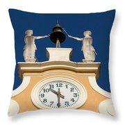 Clock Tower In Bardolino Throw Pillow