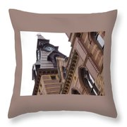 Clock Tower In New Haven Connecticut Throw Pillow